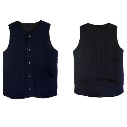 Jackman ジャックマン リバーシブルSweat Vest JM7889 NAVY