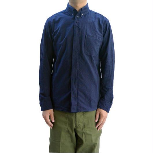 nisica(ニシカ)ボタンダウンシャツ NAVY