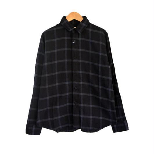 weac.(ウィーク)KURUMICHAN SHIRTS クルミチャンネルシャツ BLACK