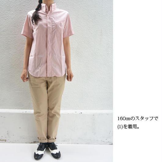 nisica ニシカ 半袖ボタンダウンシャツ オレンジ レディース サイズ1