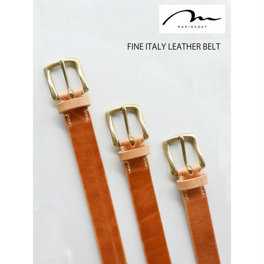 MARINEDAY FINE ITALY LEATHER BELT【TAN】