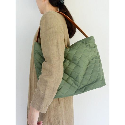 MARINEDAY 「MINI FISH」キルティング2WAY BAG KHAKI