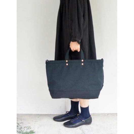 P.T WORKS & DESIGN TOOL (CANVAS BLACK) TOTE(M)