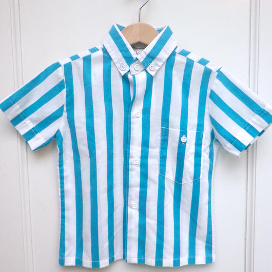 【USED】Green & White Stripe Shirts (Made in U.S.A.)