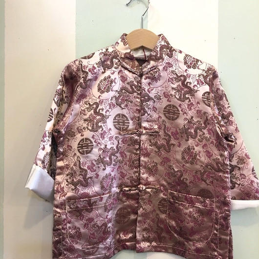 【USED】Dragon print Dusty pink China jacket