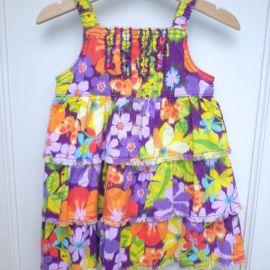 【USED】Tropical Flower Dress