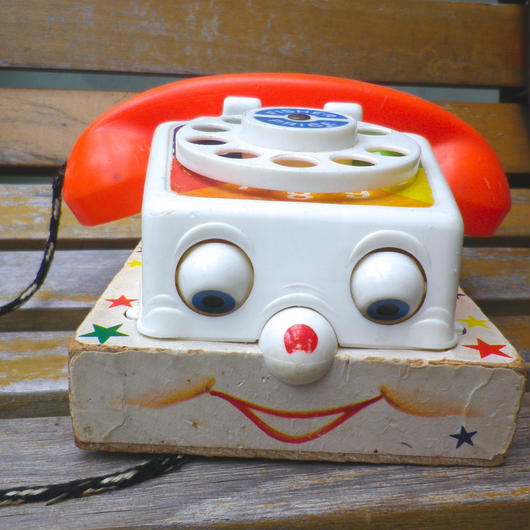 """【USED】61's Vintage """"Fisher Price"""" Chatter Telephone Toy(Made in U.S.A.)"""