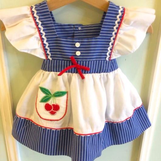 【USED】Cherry print Dress