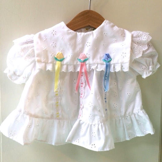 【USED】Square collar White dress