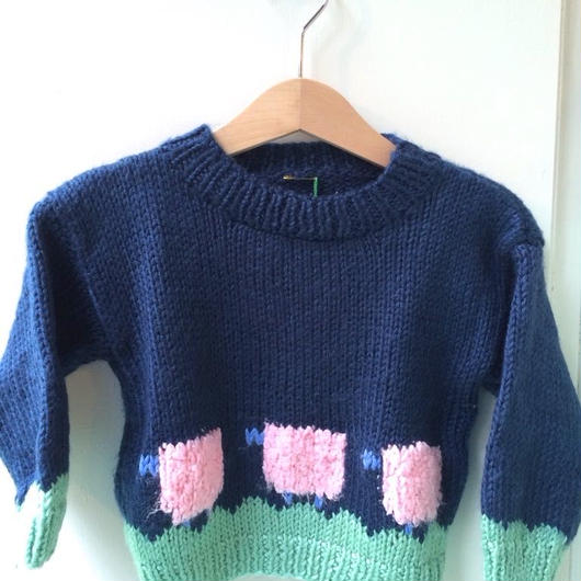 【USED】Sheep motif Sweater