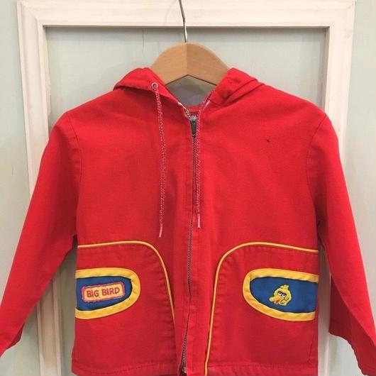 "【USED】""Sesame street"" Red Jacket"