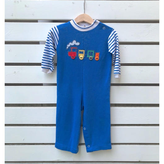 273.【USED】Blue Train  Rompers