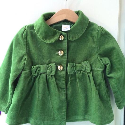 "【USED】""GYMBOREE"" Waist Ribbon Green coat"