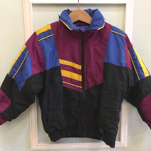 【USED】Crazy patterned Nylon Jacket