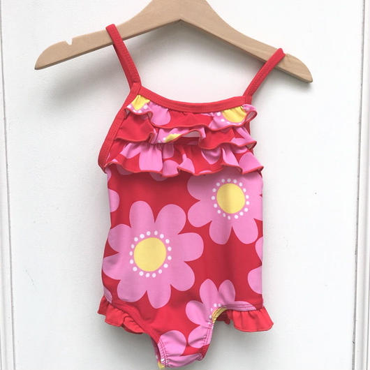 【USED】Big flower print swimwear