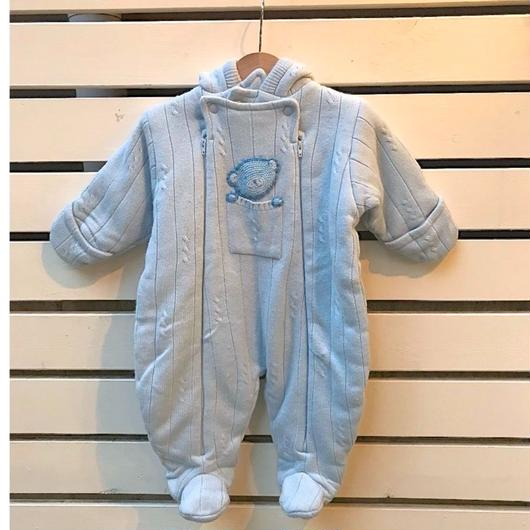 324.【USED】Blue Bear Design Rompers