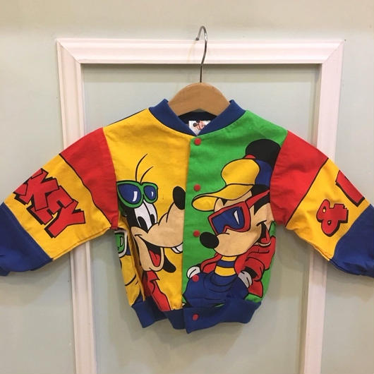 """【USED】""""MICKEY"""" and """"PLUTO"""" Cotton Jacket"""