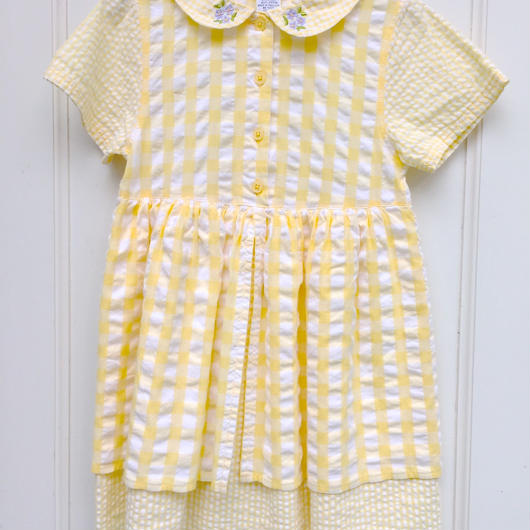 【USED】 《GYMBOREE》Yellow check Dress