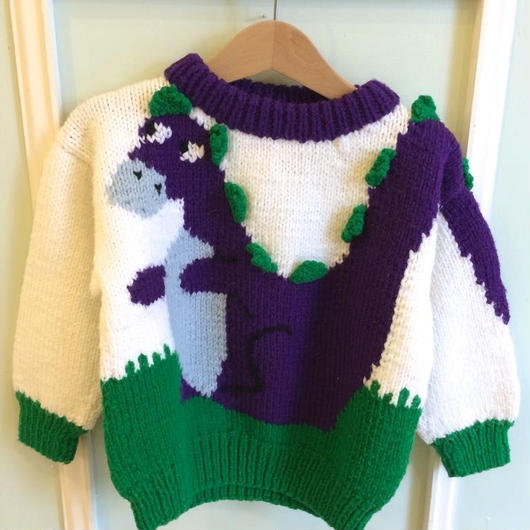 【USED】Dinosaur Knit Sweater