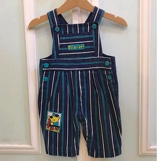 412.【USED】Fix-it! Stripe Overall