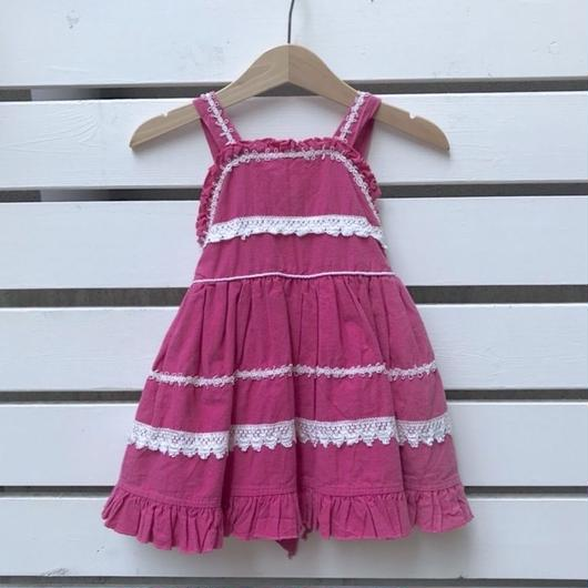 【USED】Shocking pink  race Dress
