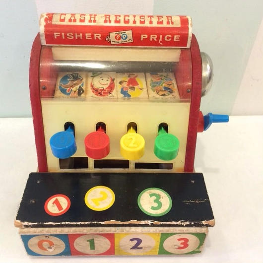 "190.【USED】Vintage ""Fisher-price"" Cash Register(Made in U.S.A.)"