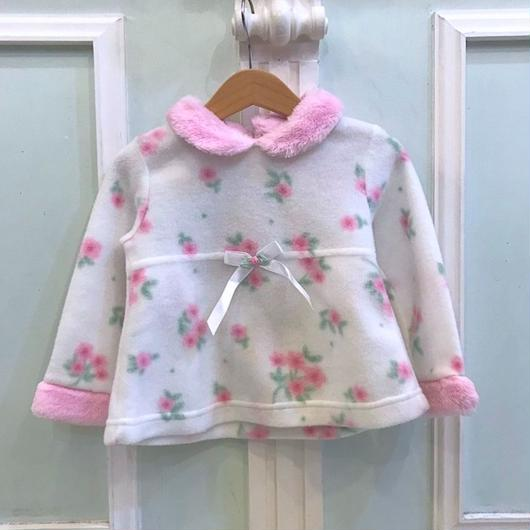 393.【USED】Pink Ribbon Flower Tops