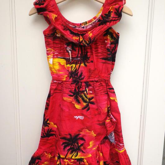 【USED】Red Hawaiian Dress