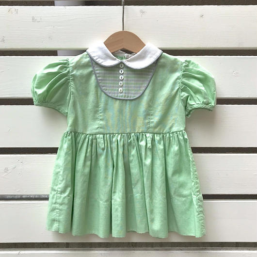 【USED】Green 50s vintage Dress