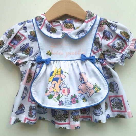 "【USED】""Disney"" Baby Minnie Flower print Dress"