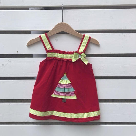353.【USED】Christmas tree Red Dress