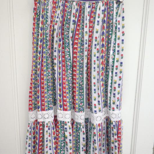 【USED】Vintage Flower Print Long Skirt