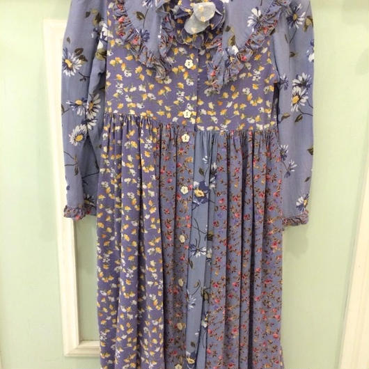 【USED】Purple flower print Dress