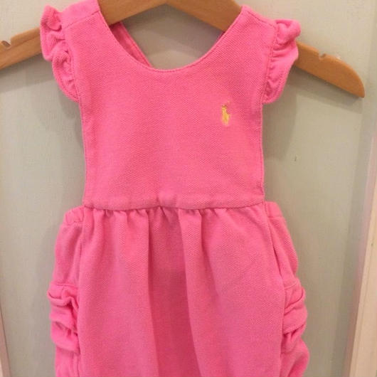 "【USED】""Ralph Lauren"" Pink rompers"