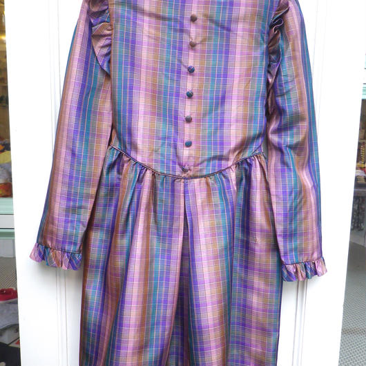 "【USED】""Christian Dior"" Formal Check Dress"