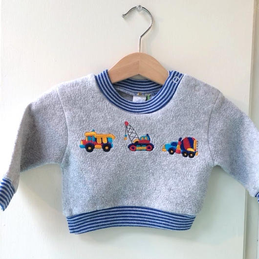 【USED】Car motif sweater