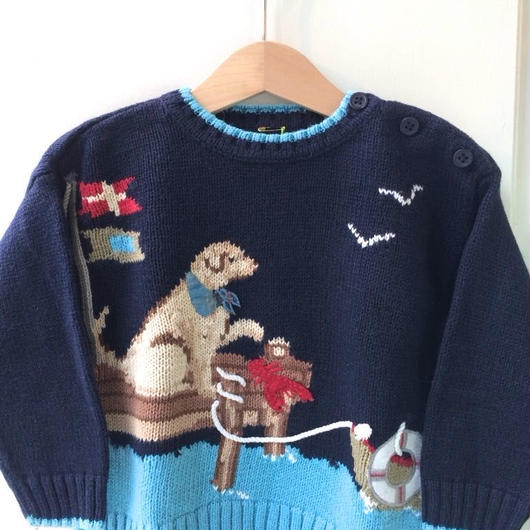 【USED】Marine Dog Sweater