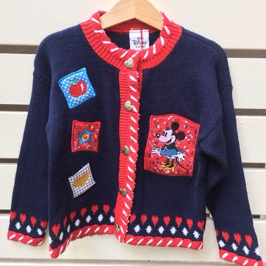 "【USED】""MINNIE""  navy cardigan( made in U.S.A.)"