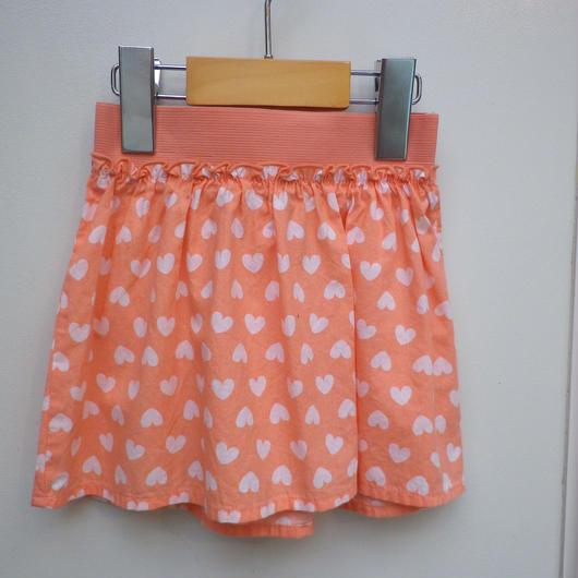 【USED】Orange Heart Print Skirt