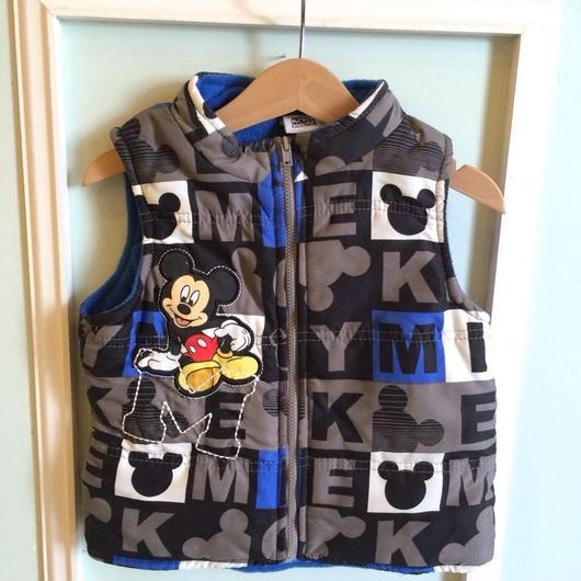 """【USED】""""Mickey"""" Hoodie Vest"""