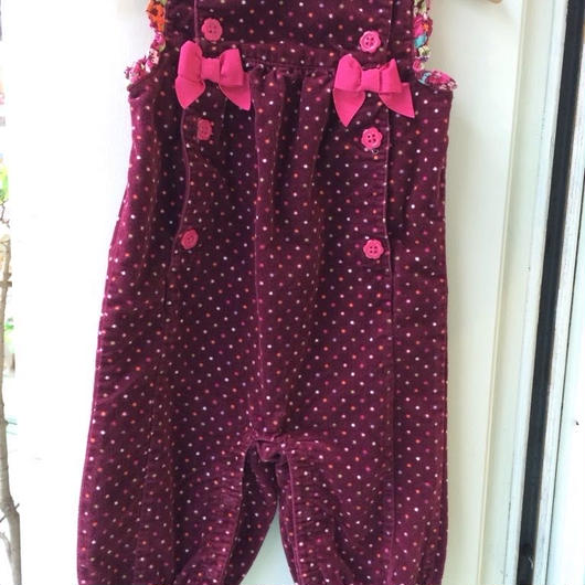 "【USED】""GYMBOREE""  dot print purple rompers"