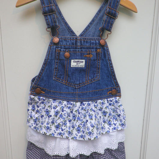 "【USED】""OSHKOSH"" Cotton skirt Denim dress"