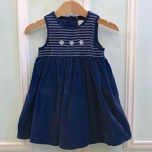 390.【USED】Navy Flower Dress