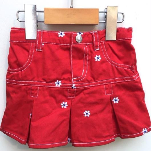 【USED】Red Flower Skirt