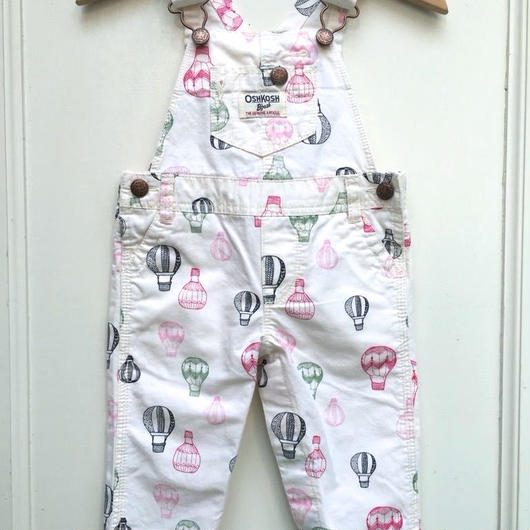 "【USED】""OSHKOSH"" Balloon print Overall"