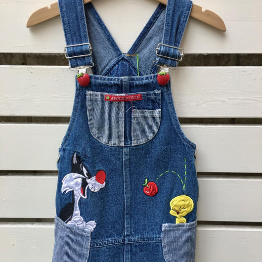 "【USED】""Tweety Bird"" Apple pickin Denim Dress"