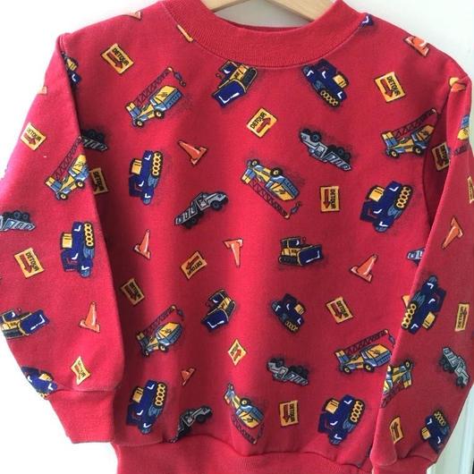 【USED】Car print Sweater (Made in U.S.A.)