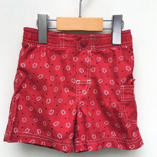 【USED】Red print & pocket swimwear