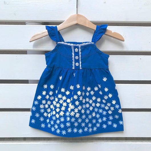 27.【USED】Blue flower design Dress