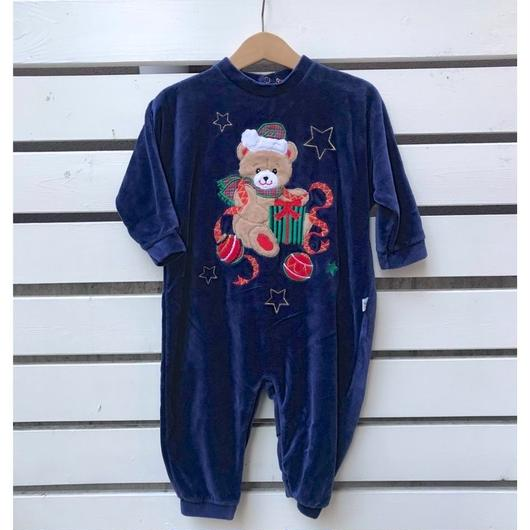 356.【USED】Bear Present Rompers(Made in U.S.A.)